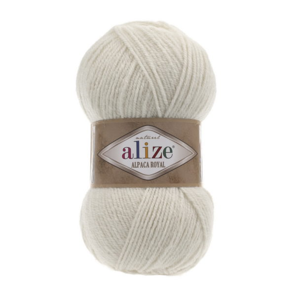 Пряжа Alize Alpaca Royal-152 Бежевый меланж
