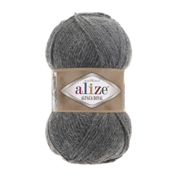 Пряжа Alize Alpaca Royal-196 Серый меланж