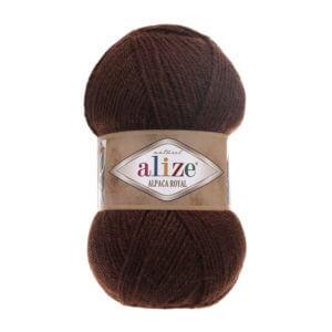 Пряжа Alize Alpaca Royal-201 Коричневый