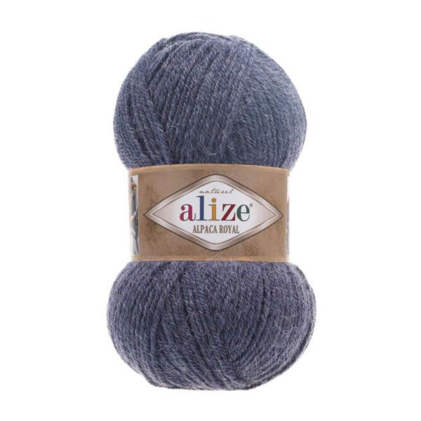 Пряжа Alize Alpaca Royal-203 Джинс меланж