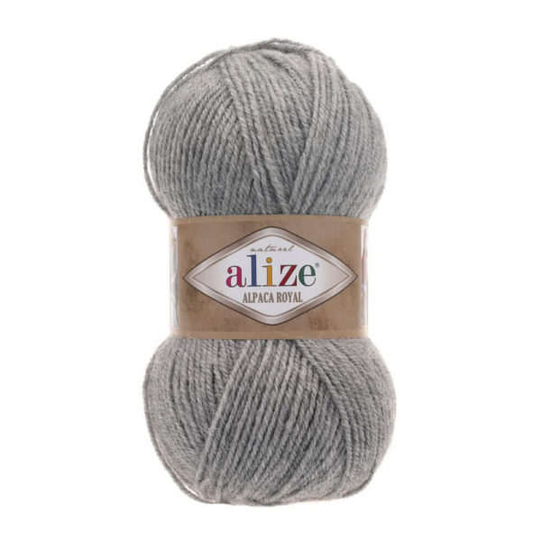 Пряжа Alize Alpaca Royal-21 Светло-серый меланж