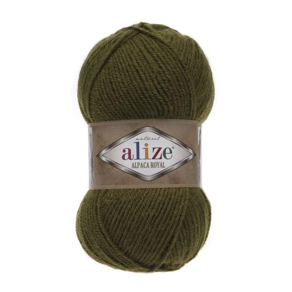 Пряжа Alize Alpaca Royal-233 Оливковый зеленый
