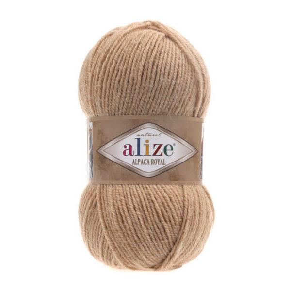 Пряжа Alize Alpaca Royal-262 Светло-бежевый