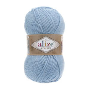 Пряжа Alize Alpaca Royal-356 Голубой