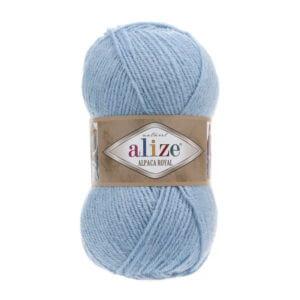 Пряжа Alize Alpaca Royal-356 Голубой