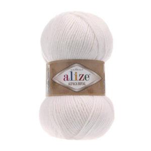 Пряжа Alize Alpaca Royal-55 Белый