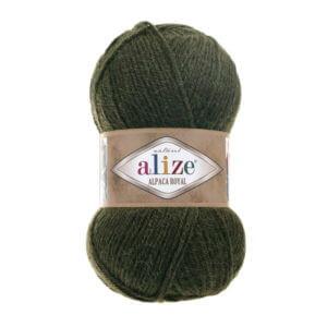 Пряжа Alize Alpaca Royal-567 Зеленый меланж