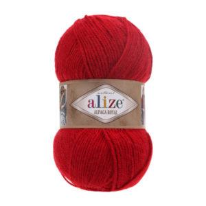 Пряжа Alize Alpaca Royal-56 Красный