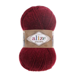 Пряжа Alize Alpaca Royal-57 Бордовый