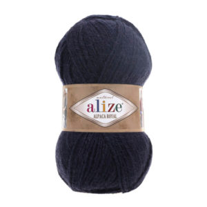 Пряжа Alize Alpaca Royal-58 Темно-синий