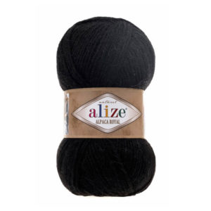 Пряжа Alize Alpaca Royal-60 Черный