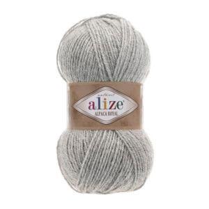 Пряжа Alize Alpaca Royal-684 Пепельный меланж