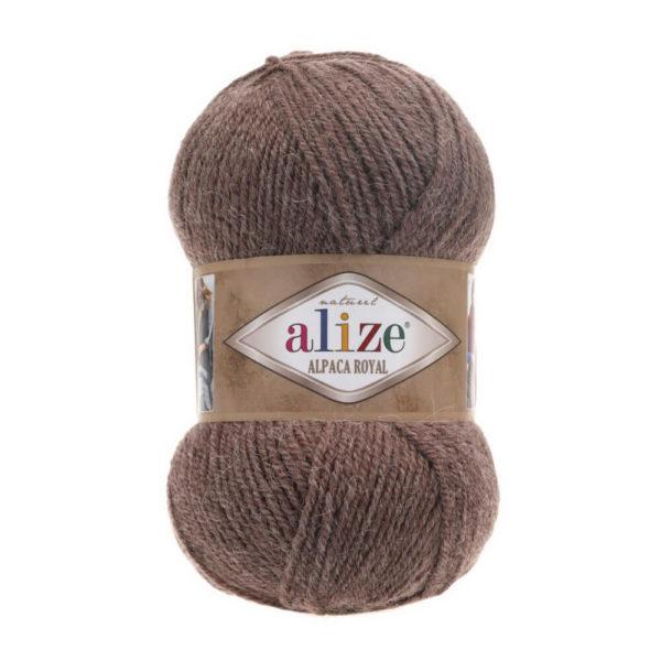 Пряжа Alize Alpaca Royal-688 Кофе с молоком меланж