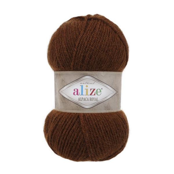 Пряжа Alize Alpaca Royal-690 Кирпичный меланж