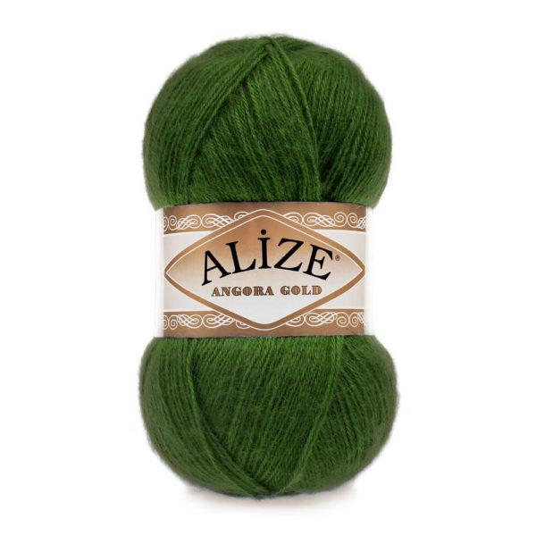 Пряжа Alize Angora Gold - 118 зеленая трава