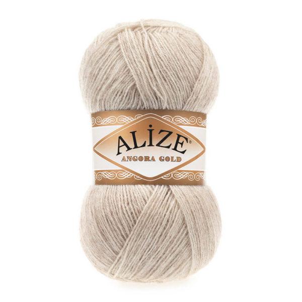 Пряжа Alize Angora Gold - 152 бежевый меланж