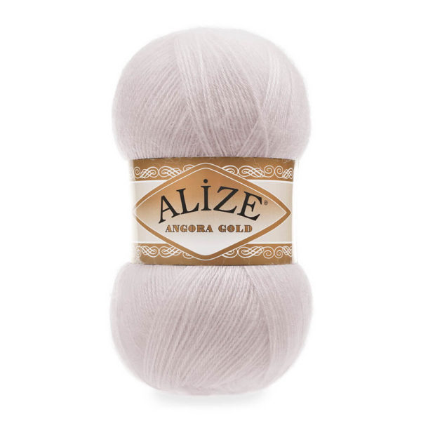 Пряжа Alize Angora Gold - 168 белая зима