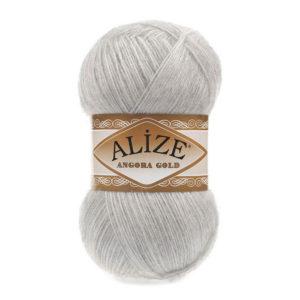 Пряжа Alize Angora Gold - 208 светло - серый меланж