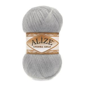 Пряжа Alize Angora Gold - 21 серый