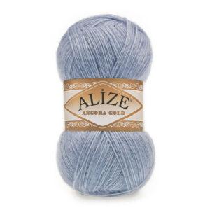 Пряжа Alize Angora Gold - 221 светлый джинс меланж