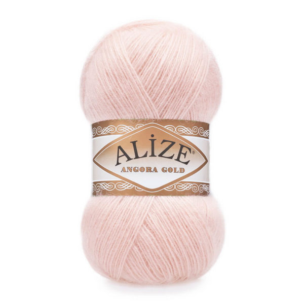 Пряжа Alize Angora Gold - 271 жемчужно - розовый