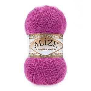 Пряжа Alize Angora Gold - 46 темно - розовый