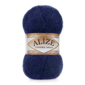 Пряжа Alize Angora Gold - 58 темно - синий