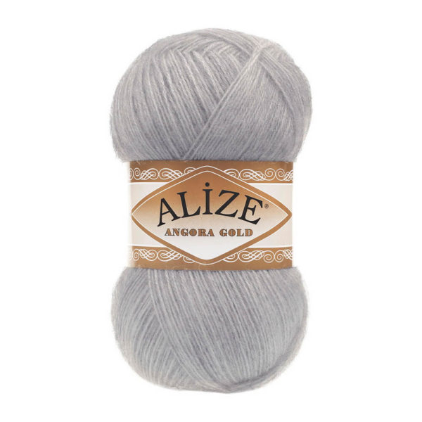 Пряжа Alize Angora Gold - 614 серый меланж