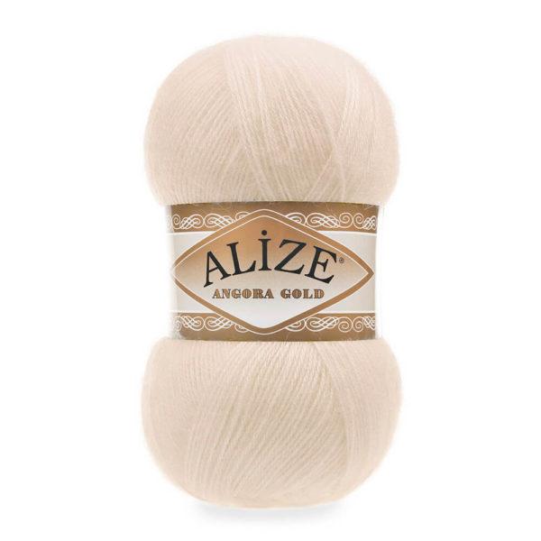 Пряжа Alize Angora Gold - 67 молочно - бежевый