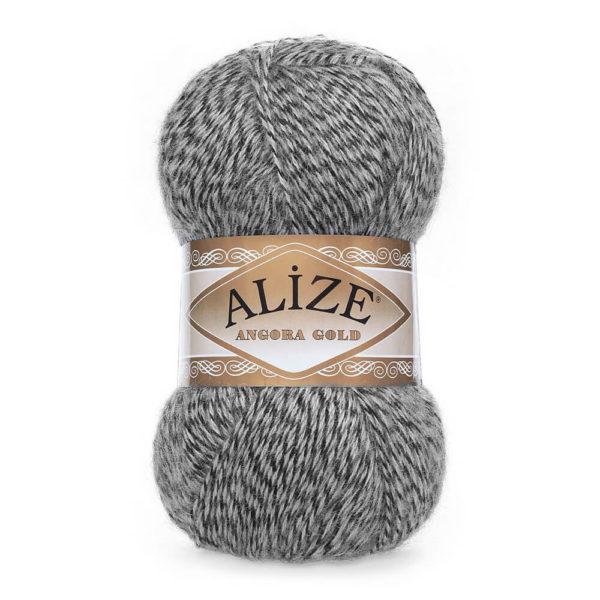 Пряжа Alize Angora Gold - 700 серый мулине