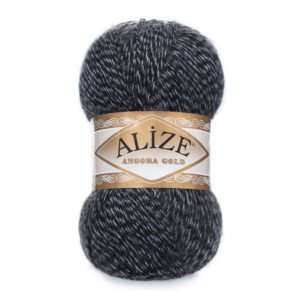 Пряжа Alize Angora Gold - 701 антрацит мулине