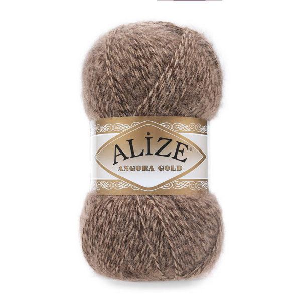 Пряжа Alize Angora Gold - 703 коричневый мулине