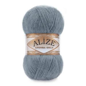 Пряжа Alize Angora Gold - 87 средне - серый